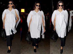 Sonam K Ahuja's latest airport look is chic