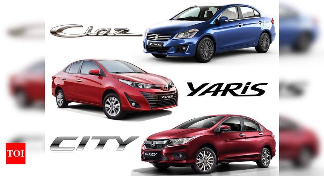 Mid Size Sedans Toyota Yaris Vs Honda City Vs Maruti Suzuki Ciaz Specs Comparison Times Of India