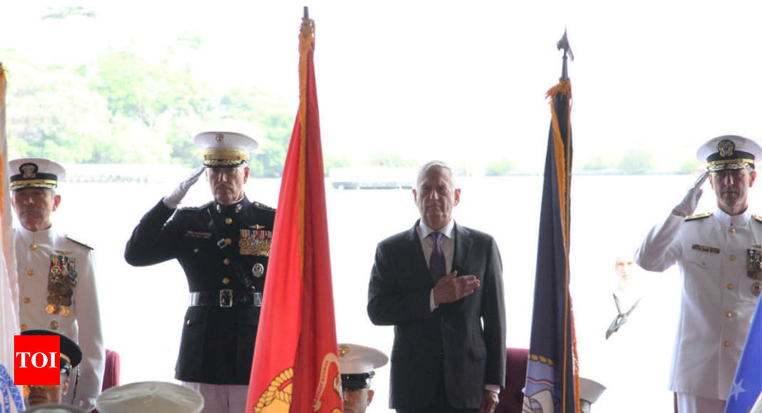In symbolic nod to India, US changes name of Pacific Command - Times of India