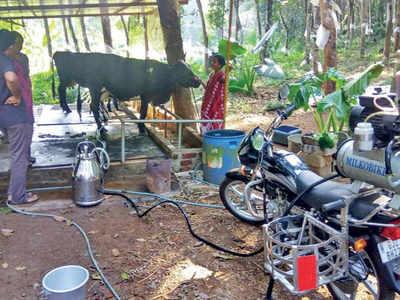 Bike modified: Bike modified in Anand helps farmers in