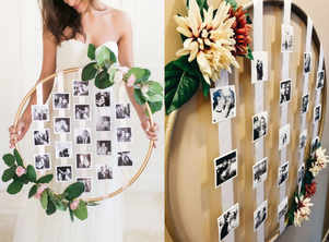 DIY pretty floral photo hula hoop