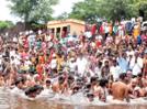 Devotees gather at Panchganaga River for holy bath