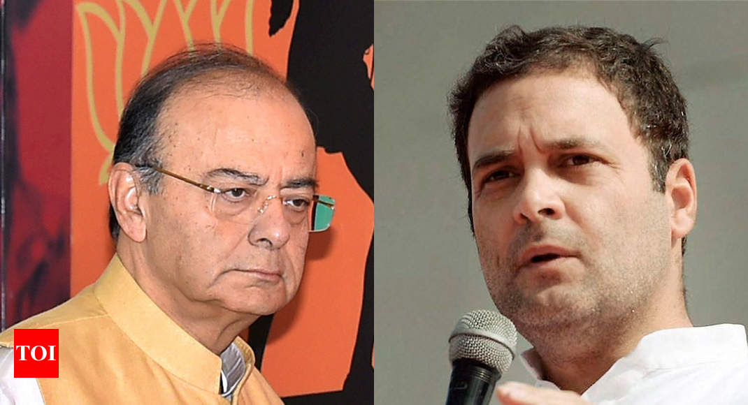 photo - Jaitley takes jibe at Rahul Gandhi, says knowledge can not be inherited - Cases of India