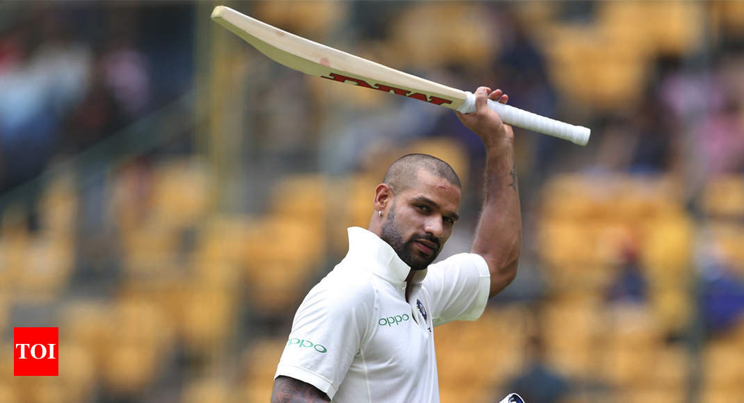 Shikhar Dhawan first Indian to hit Test century before lunch on Day 1 - Times of India