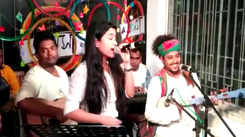 Porshia and Tirtha performance during Abaho music jalsa