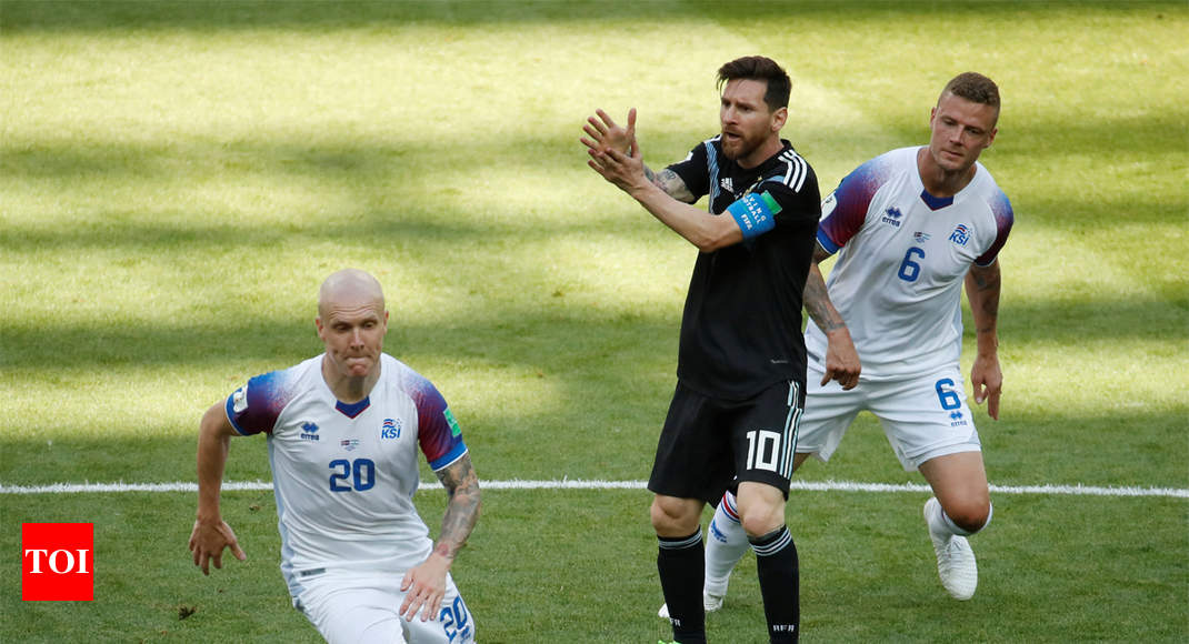 Fifa World Cup  Iceland Hold Argentina To   Draw Football News Times Of India