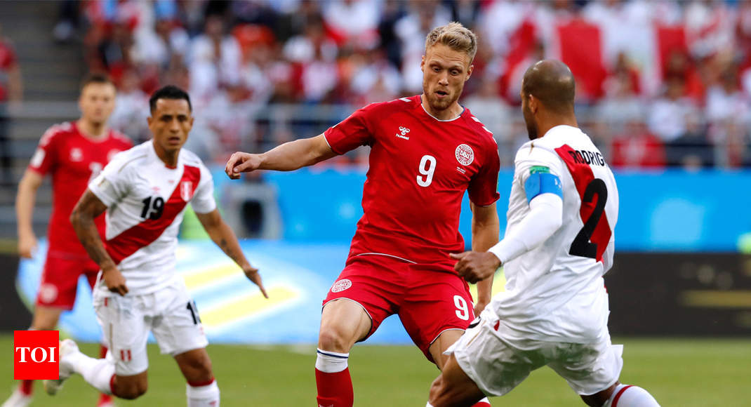 130a07506d4 FIFA World Cup 2018  Denmark beat Peru 1-0