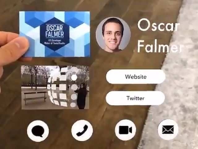 Apple developer uses augmented reality tool to create the 'future of business cards'