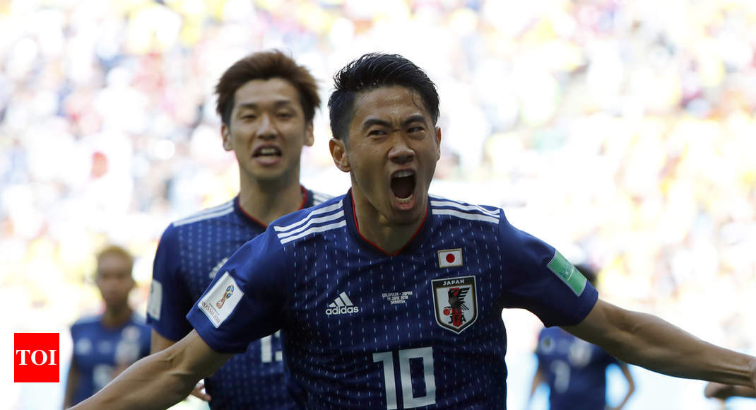 c38eb4b1a41 FIFA World Cup 2018: Japan beat 10-man Colombia 2-1 | Football News - Times  of India