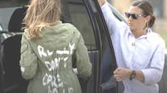 Melania Trump's jacket un-diplomacy while visiting border kids causes outcry