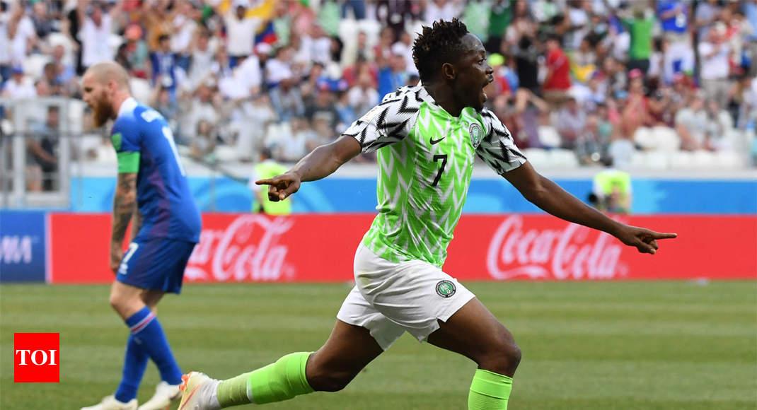 8d7552aeca7 FIFA World Cup 2018  Nigeria beat Iceland 2-0