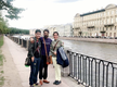 Arpita joins Prosenjit and son in Russia