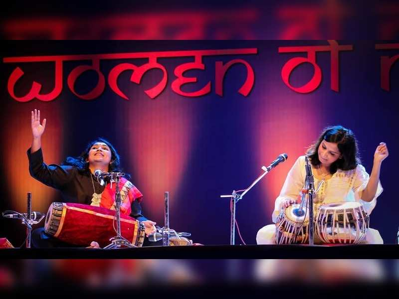 Women percussionist enthrall audiences at the Yashwantrao Chavhan Auditorium