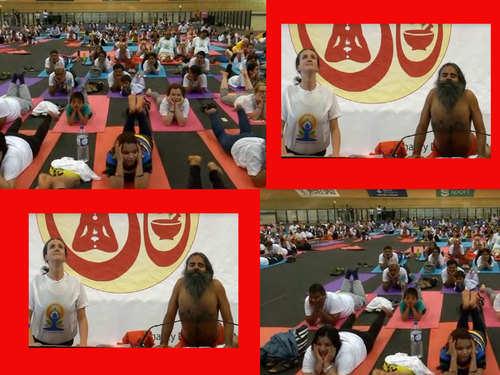 Ramdev yoga class