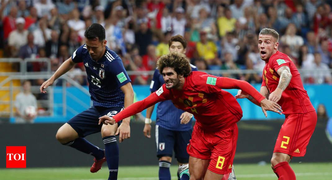 8f4ef8d32c7d FIFA World Cup 2018  Belgium beat Japan 3-2 to enter quarters ...