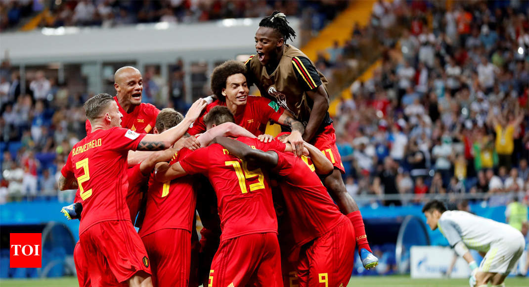 Belgium vs Japan: Belgium fight back from two down to beat Japan 3-2 in added time - Times of India
