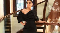Kajol looks enchanting in this black gown