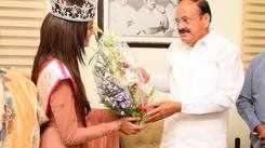 Shreya Rao Kamavarapu meets honourable Vice President of India M Venkaiah Naidu