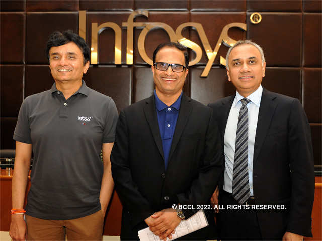 At Thursday's closing price of Rs 1,284.5, Infosys was valued at a trailing priceearnings multiple of 17.5.