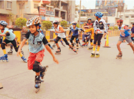 Roller relay skating competition held in Aurangabad