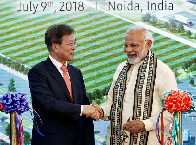 The factory was inaugurated jointly by Indian Prime Minister Narendra Modi and South Korean President Moon Jae-in