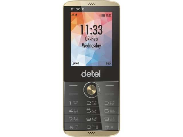 Detel launches D1 Gold feature phone in India, priced at Rs 999