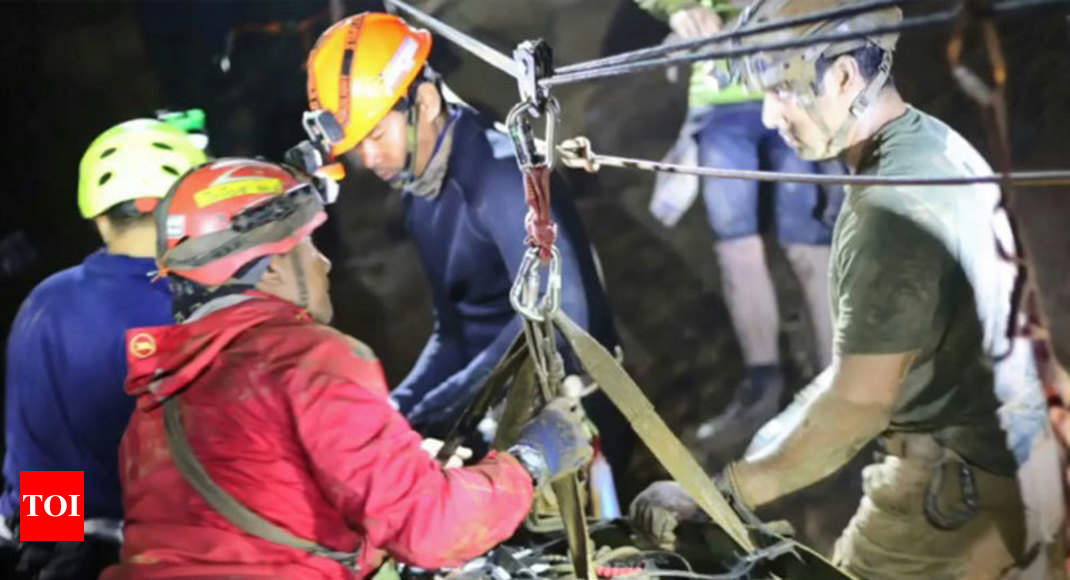 As water level surged, Thai cave rescue nearly ended in disaster - Times of India ►