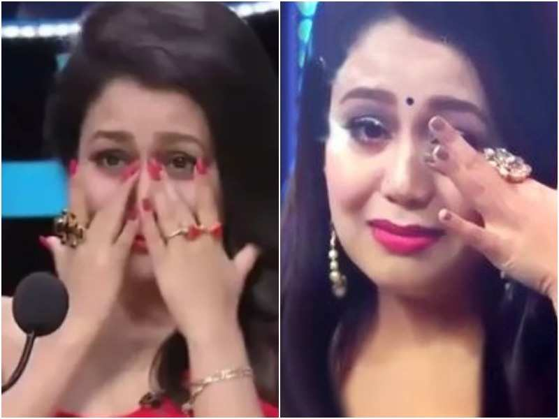Indian Idol 10 Neha Kakkar Gets Trolled For Being A Cry Baby Gives A Befitting Reply Times Of India