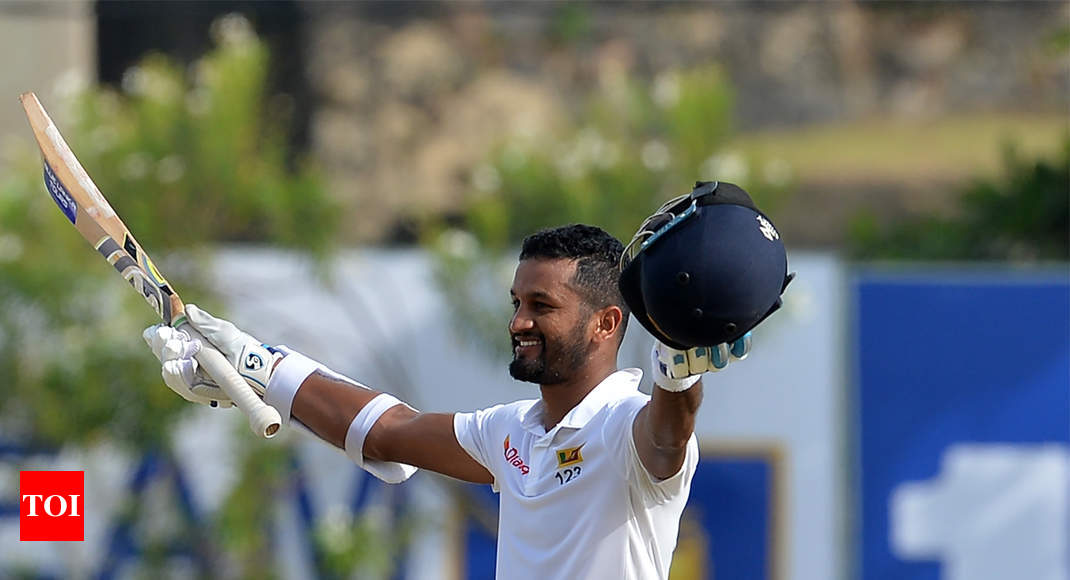 1st Test, Day 1: Karunaratne unbeaten ton helps Sri Lanka to 287 against South Africa - Times of India