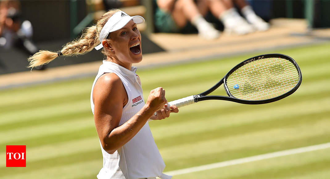 Kerber reaches Wimbledon final as Ostapenko self-destructs - Times of India