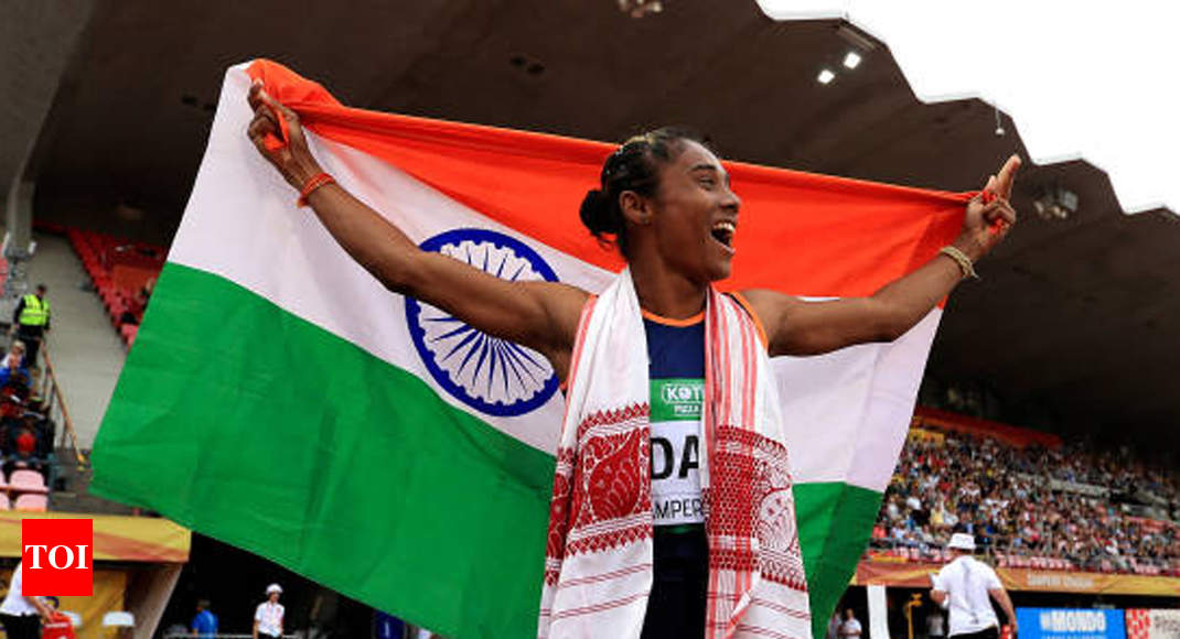 Under-20 World Athletics: Hima Das scripts history, wins gold in 400m - Times of India