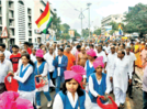 City community's grand celebration amidst dhol-tasha