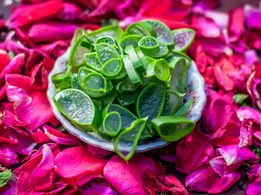 How to make rose aloe vera gel