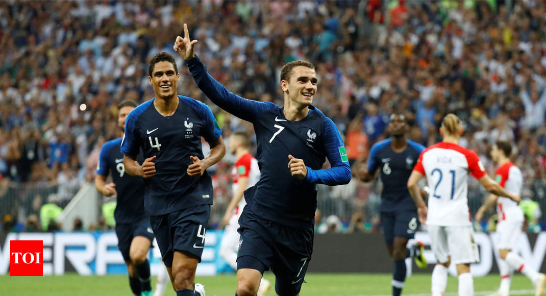 France Vs Croatia France Beat Croatia   To Win Fifa World Cup After  Years Football News Times Of India