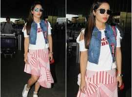 Hina Khan's airport look fails to impress