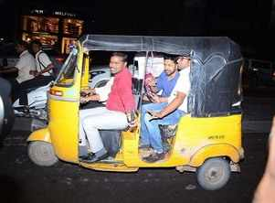 'China Babu' actor Karthi took auto to attend the event