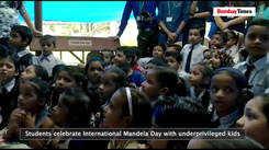 Students celebrate International Mandela Day with underprivileged kids