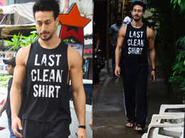 We love Tiger Shroff's last clean shirt