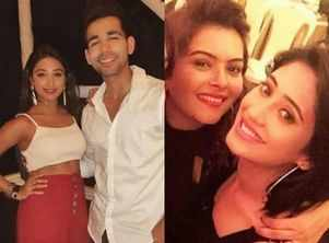 Mohena parties hard with Rishi and co-stars
