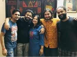 Sahana records a Rabindrasangeet single