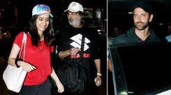 Hrithik Roshan and Shraddha Kapoor return from their family holidays