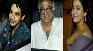 Boney Kapoor hosts special screening of Janhvi Kapoor and Ishaan Khatter's 'Dhadak'