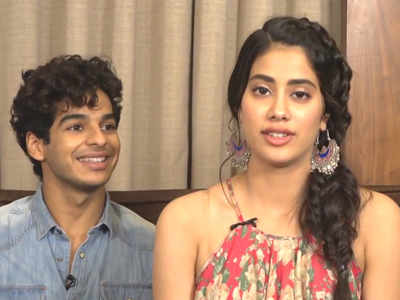 Ishaan Khatter, Janhvi Kapoor and director Shashank Khaitan visit a theatre  to get firsthand audience reactions