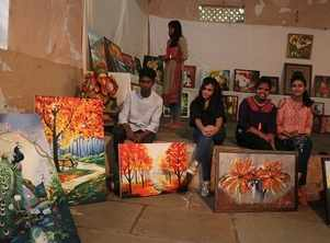 Painting and craft exhibition brings a riot of colours