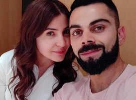 Virat shares a loved-up selfie with Anushka