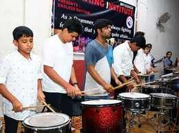 Drummers of all ages give a rocking performance