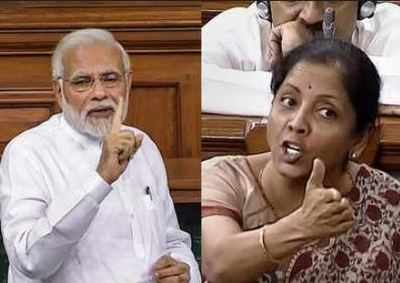 Image result for narendra modi and nirmala sitharaman