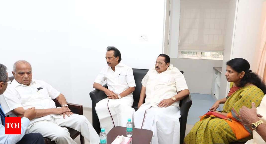 photo - Karunanidhi's smartly being situation is better now, daughter Kanimozhi says - Instances of India