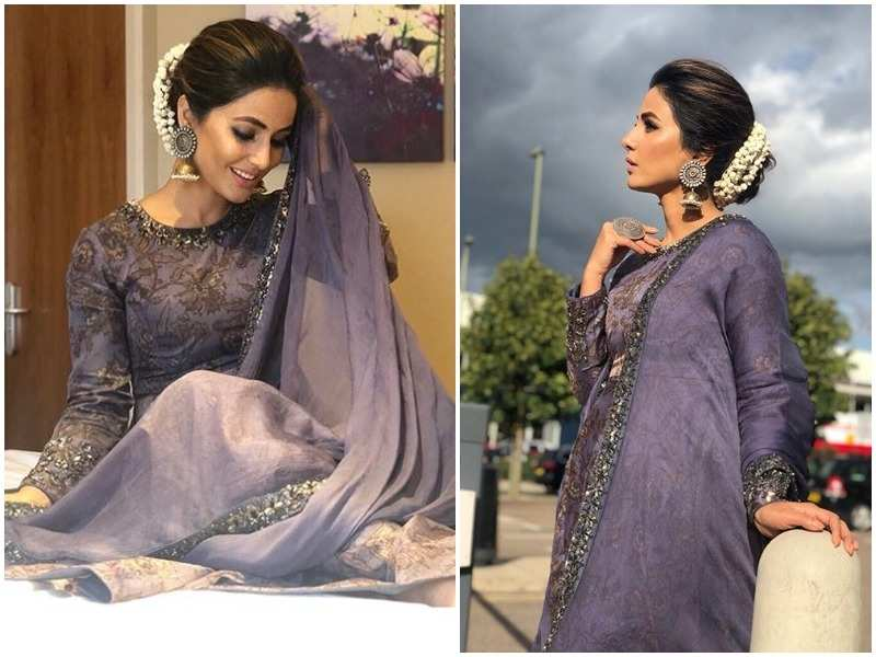 Hina Khan looks ethereal in her traditional avatar - Times of India
