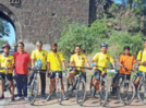Cyclists from Aurangabad ride to Khuldabad